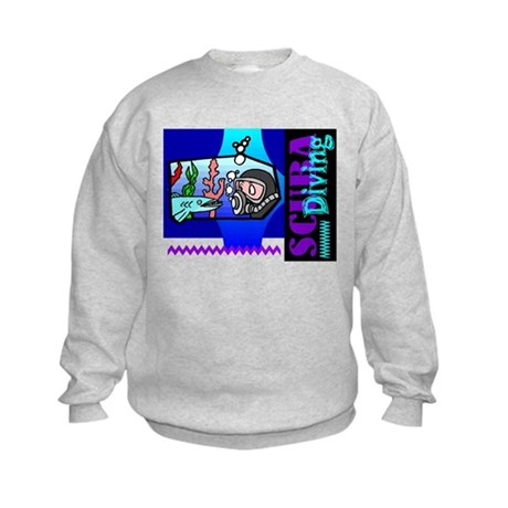 Scuba Diving Kids Sweatshirt