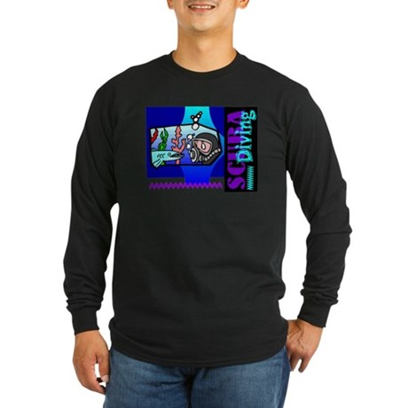 Scuba Diving Long Sleeve Dark T-Shirt