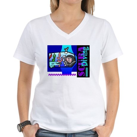 Scuba Diving Women's V-Neck T-Shirt