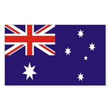 Australian Flag Rectangle Decal