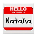 Hello my name is Natalia Tile Coaster