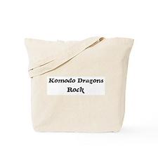 Komodo Dragonss rock Tote Bag