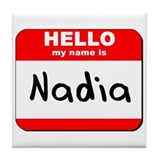 Hello my name is Nadia Tile Coaster