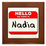 Hello my name is Nadia Framed Tile