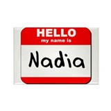 Hello my name is Nadia Rectangle Magnet (10 pack)