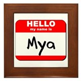 Hello my name is Mya Framed Tile
