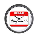 Hello my name is Muhammad Wall Clock