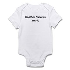 Toothed Whaless rock] Infant Bodysuit