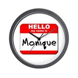 Hello my name is Monique Wall Clock