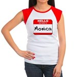 Hello my name is Monica Women's Cap Sleeve T-Shirt