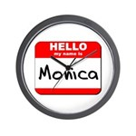 Hello my name is Monica Wall Clock