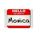Hello my name is Monica Rectangle Magnet (10 pack)