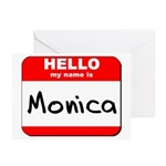 Hello my name is Monica Greeting Cards (Pk of 20)