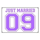 Just Married 09 (Purple) Banner