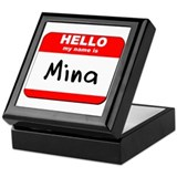 Hello my name is Mina Keepsake Box