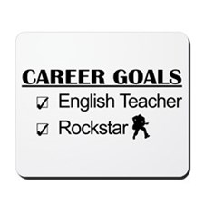 English Teacher Career Goals - Rockstar Mousepad