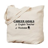 English Teacher Career Goals - Rockstar Tote Bag