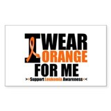 I Wear Orange For Me Rectangle Sticker 10 pk)