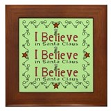 I Believe Santa Framed Tile