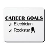 Electrician Career Goals - Rockstar Mousepad