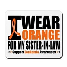 I Wear Orange For My SIL Mousepad
