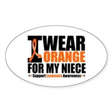 I Wear Orange For My Niece Oval Sticker (10 pk)
