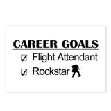 Flight Attendant Career Goals - Rockstar Postcards