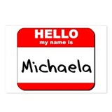 Hello my name is Michaela Postcards (Package of 8)