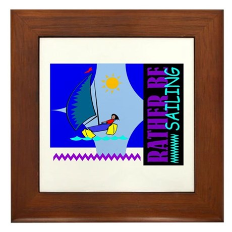 Rather Be Sailing Framed Tile