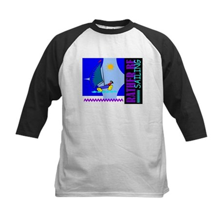 Rather Be Sailing Kids Baseball Jersey