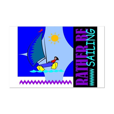 Rather Be Sailing Mini Poster Print