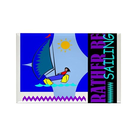Rather Be Sailing Rectangle Magnet (100 pack)