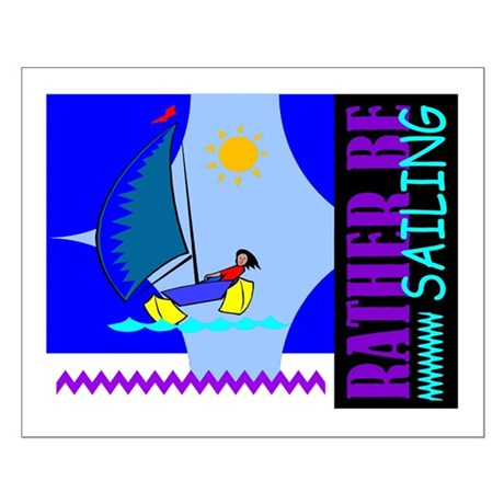 Rather Be Sailing Small Poster