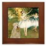 Dancer1/Wheaten T Framed Tile