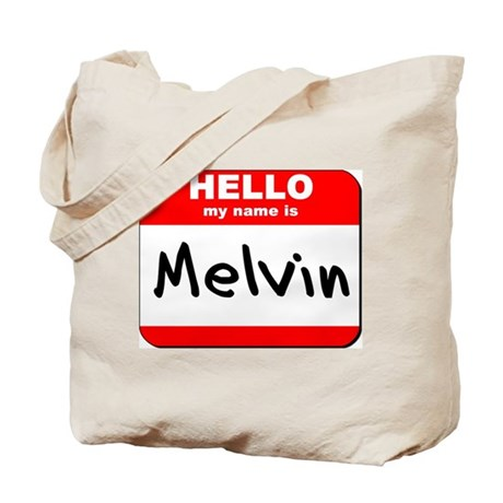 Hello my name is Melvin Tote Bag