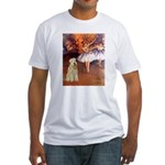 Dancer1/Wheaten T (7) Fitted T-Shirt