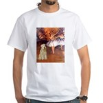 Dancer1/Wheaten T (7) White T-Shirt