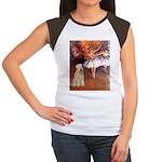 Dancer1/Wheaten T (7) Women's Cap Sleeve T-Shirt