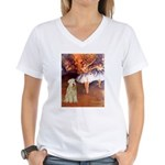 Dancer1/Wheaten T (7) Women's V-Neck T-Shirt