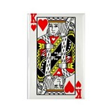 King Of Hearts Rectangle Magnet (100 pack)