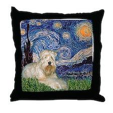 Starry / Wheaten T #1 Throw Pillow