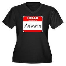 Hello my name is Melanie Women's Plus Size V-Neck