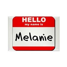 Hello my name is Melanie Rectangle Magnet