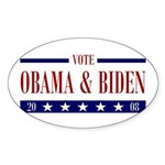 OBAMA BIDEN Oval Sticker (10 pk)