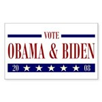 OBAMA BIDEN Rectangle Sticker 50 pk)