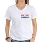 OBAMA BIDEN Women's V-Neck T-Shirt