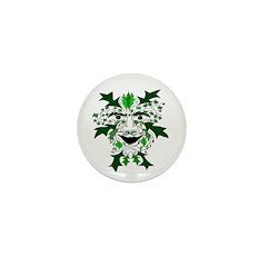 "Green Man 1"" Mini Button (10 pack)"