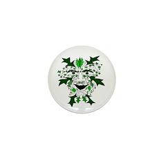 "Green Man 1"" Mini Button"