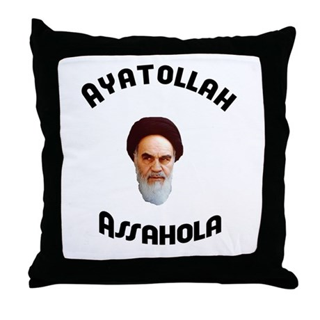 Ayatollah Assahola Throw Pillow