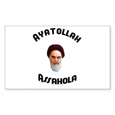 Ayatollah Assahola Rectangle Sticker